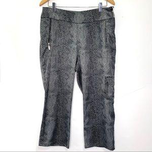 Jamie Sadock Snake Print Capris Golf Pants